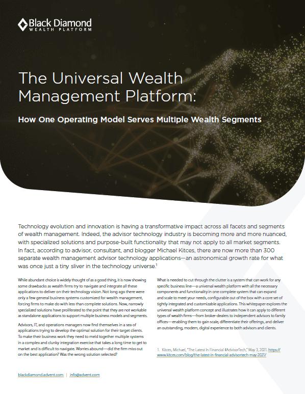 poster image for The Universal Wealth Management Platform