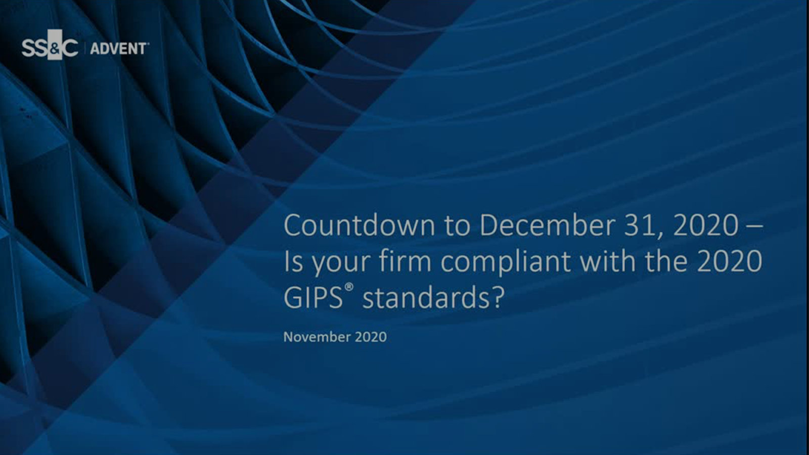 poster image for Is Your Firm Compliant with the 2020 GIPS® Standards?
