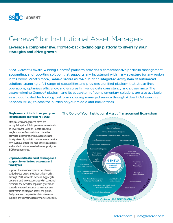 poster image for <p>Geneva for Institutional Asset Managers</p>