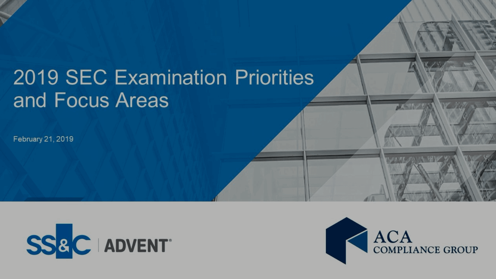 poster image for SEC examination priorities and focus areas for 2019