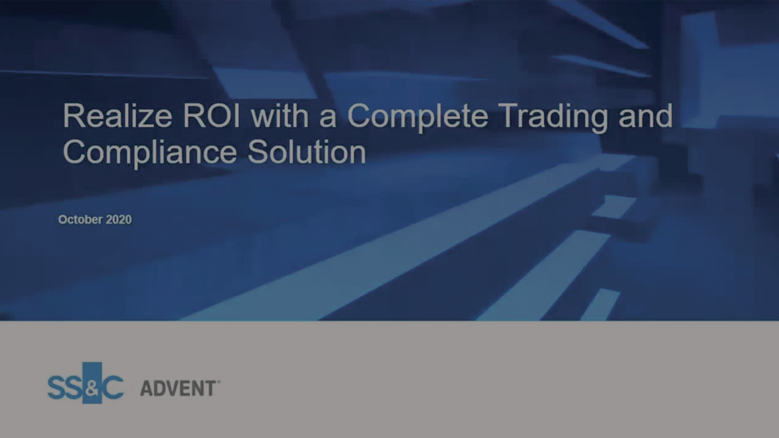 poster image for Realize ROI with a Complete Trading and Compliance Solution