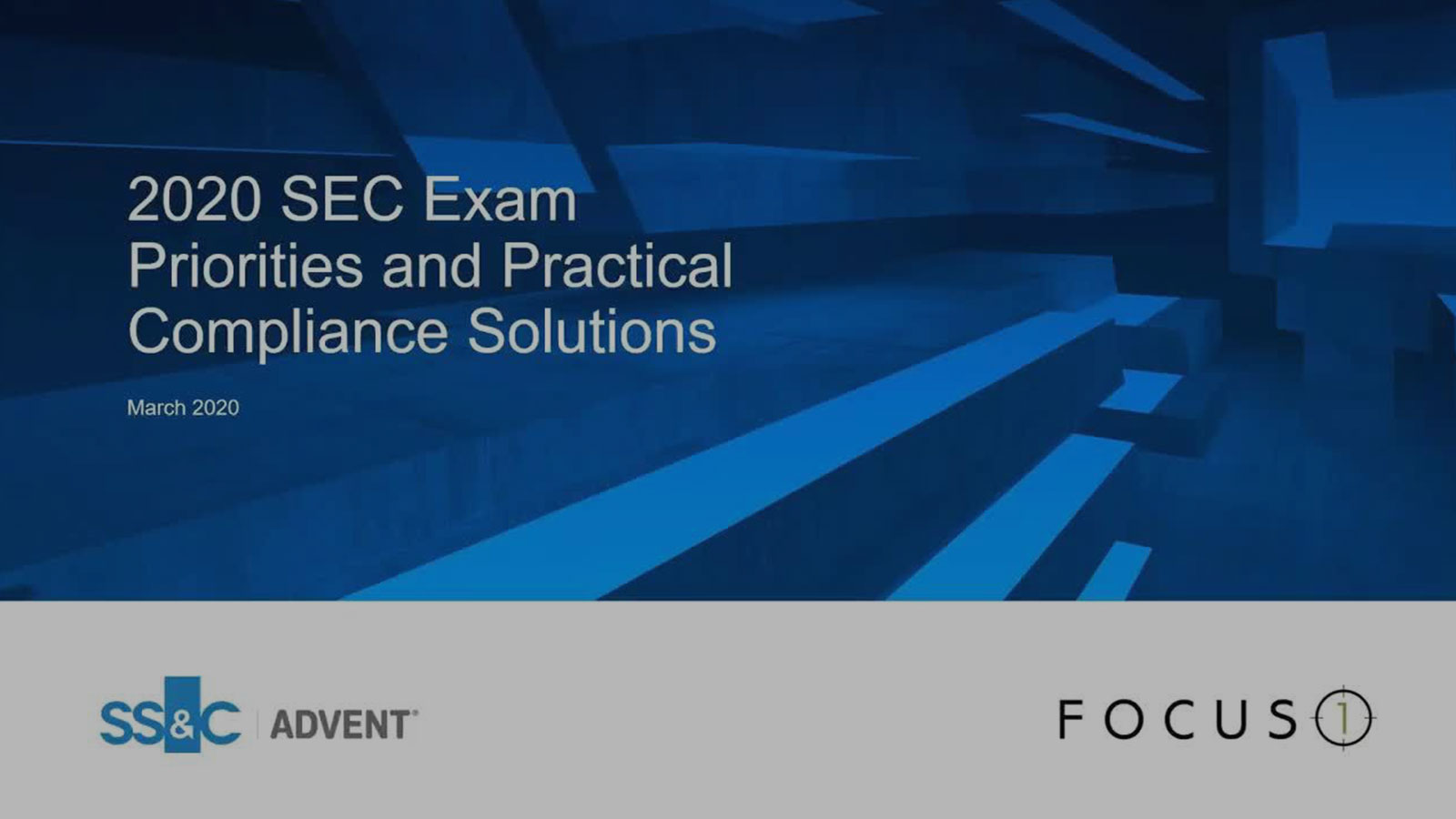 poster image for 2020 SEC Exam Priorities and Practical Compliance Solutions