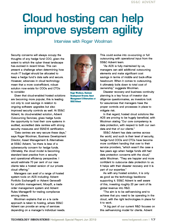 poster image for <p>Cloud Hosting Can Help Improve System Agility</p>