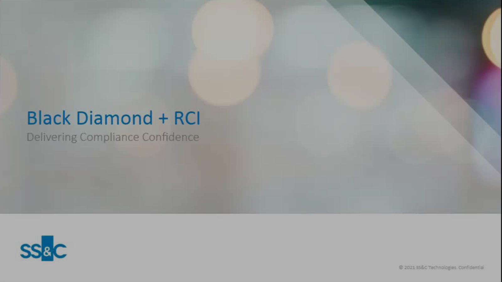 poster image for Black Diamond + RCI: Delivering Compliance Confidence