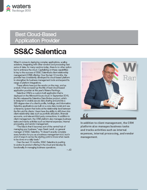 poster image for <p>Salentica voted Best Cloud-Based Application Provider</p>