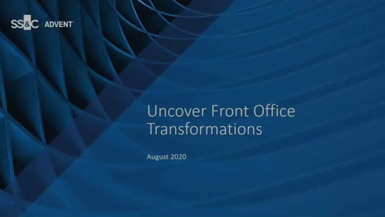 poster image for Uncover Front Office Transformations