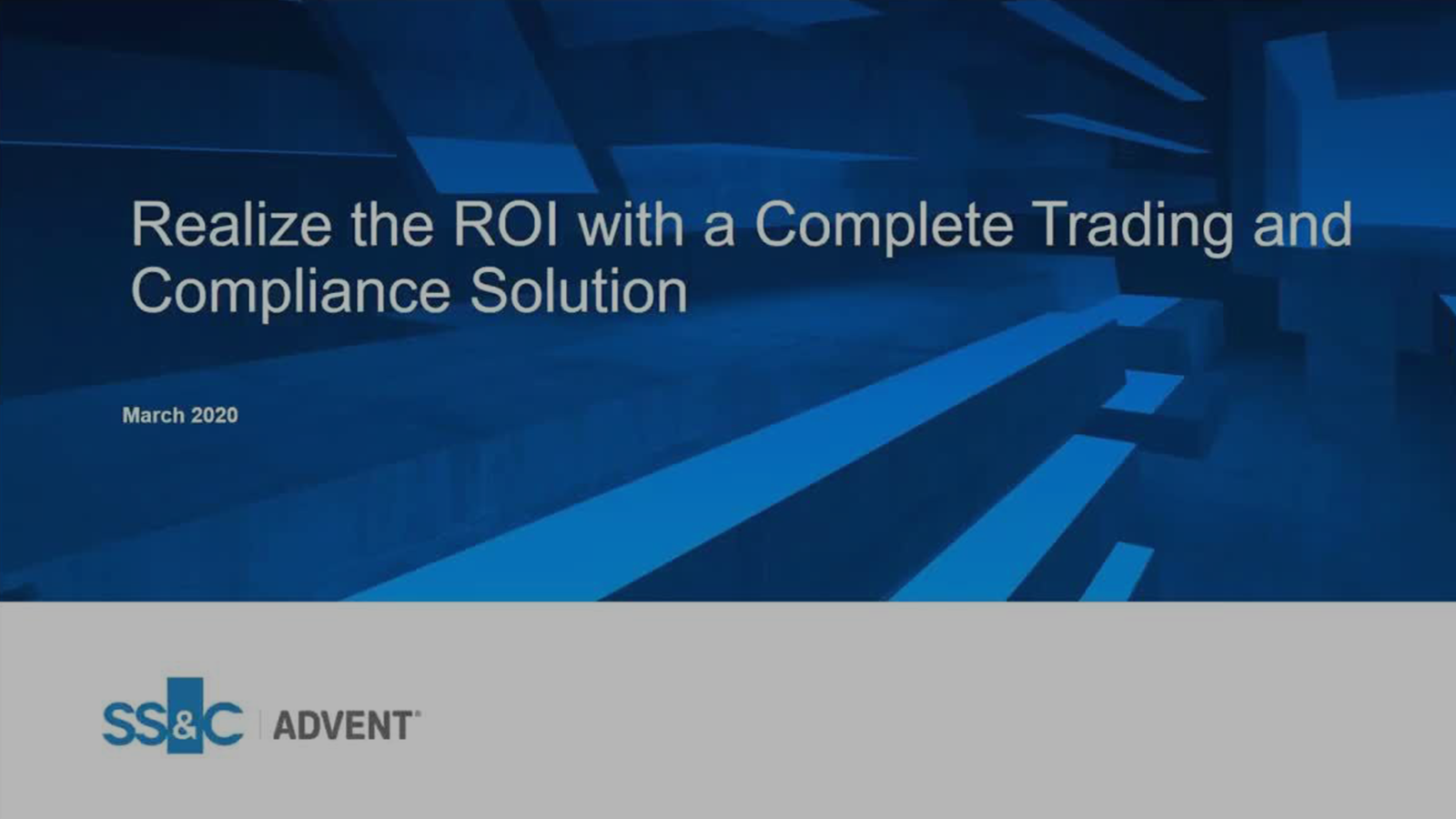poster image for A Complete Trading and Compliance Solution