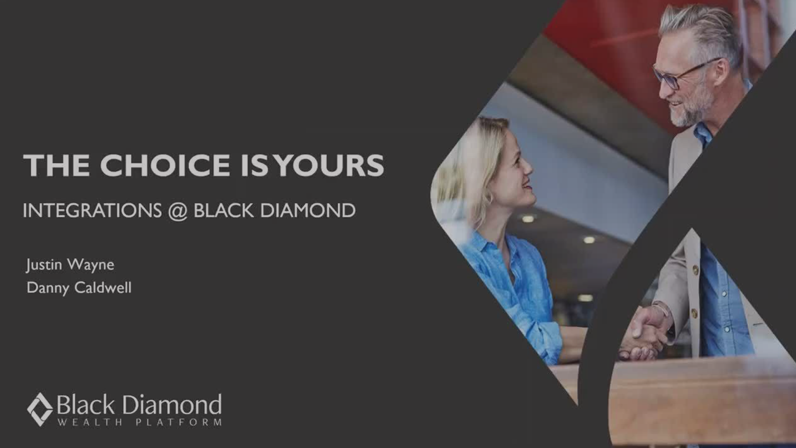 poster image for Black Diamond Integrations: The Choice is Yours