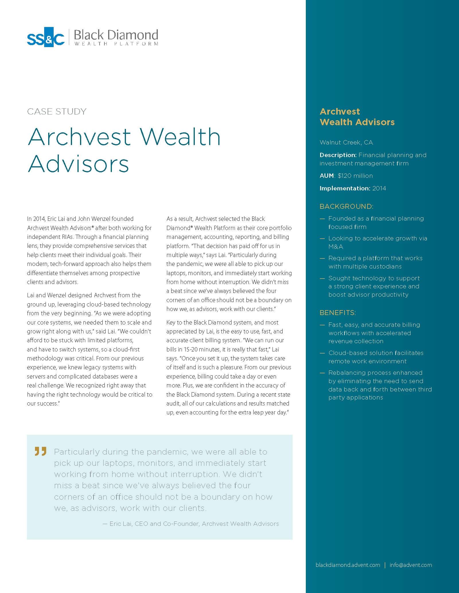 poster image for <p>Archvest Wealth Advisors</p>