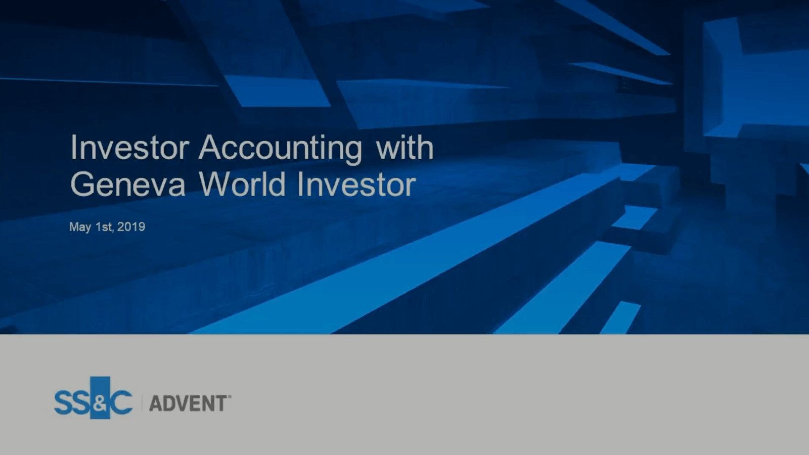 poster image for Investor accounting with Geneva World Investor