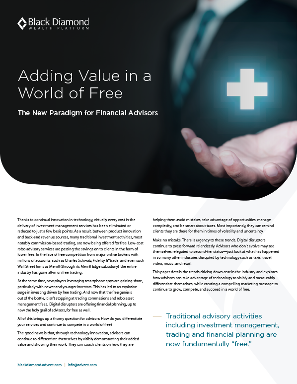 poster image for Adding Value in a World of Free
