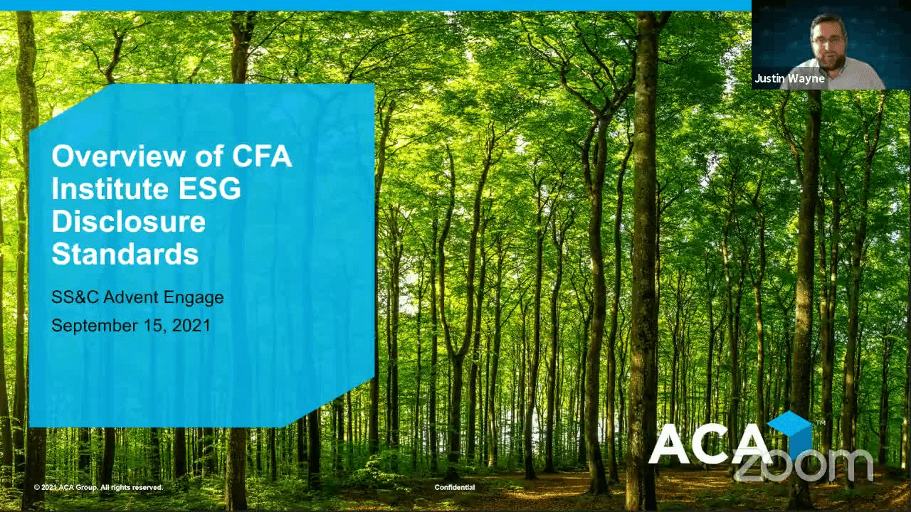 poster image for An Overview of CFA Institute's Proposed ESG Disclosure Standard
