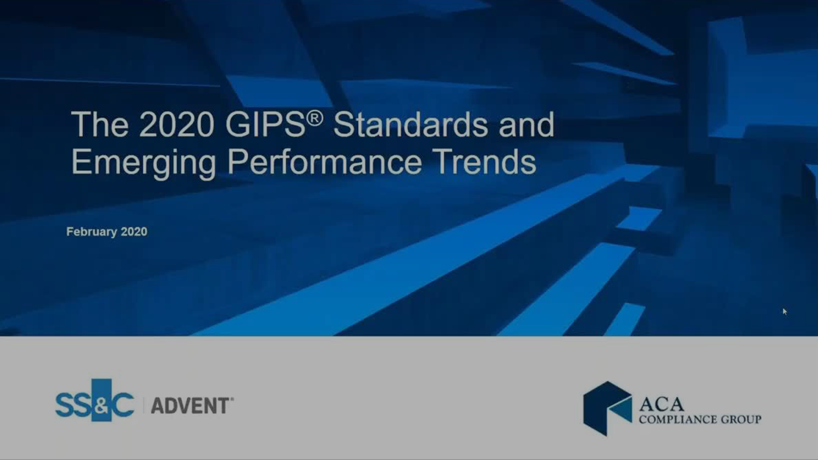 poster image for 2020 GIPS Standards and Emerging Performance Trends