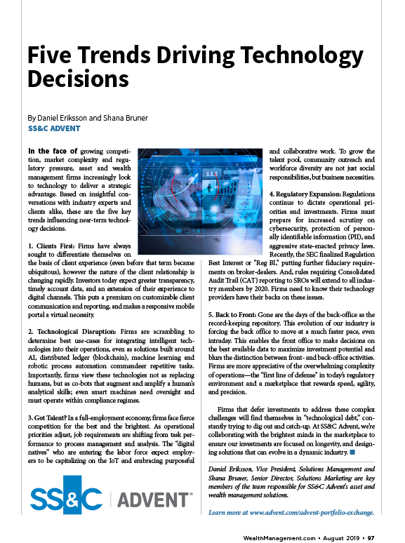poster image for <p>Five Trends Driving Technology Decisions</p>