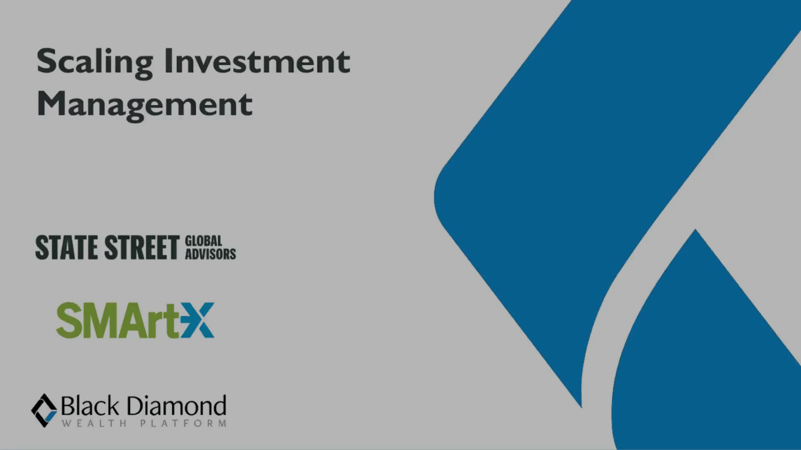 poster image for Black Diamond Scaling Investment Management