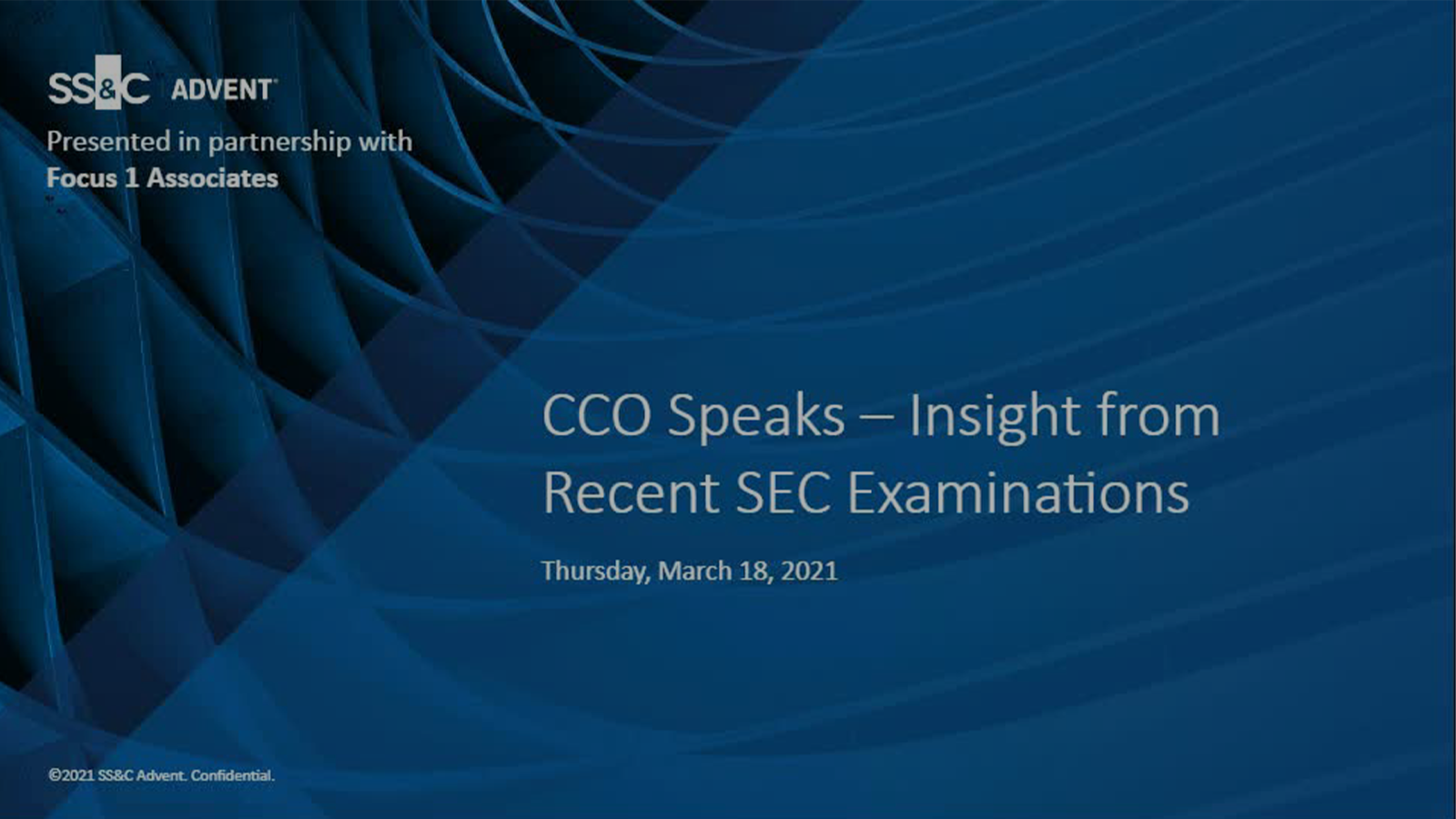 poster image for CCO Speaks: Insights from Recent SEC Examinations