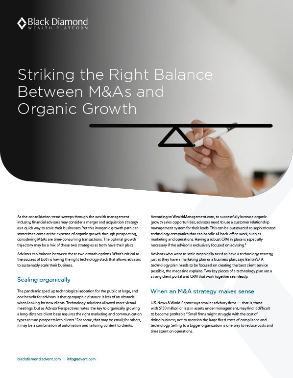 poster image for Striking the Right Balance Between M&As and Organic Growth