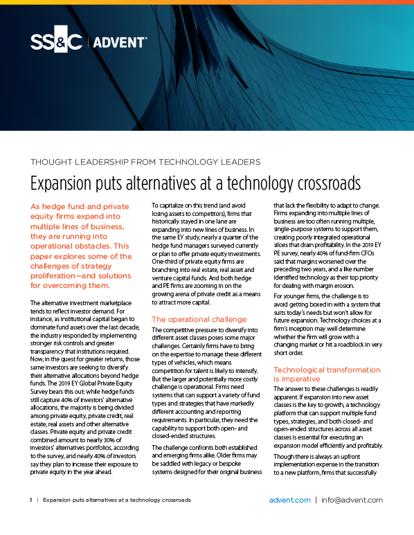 poster image for <p>Expansion Puts Alternatives at a Technology Crossroads</p>