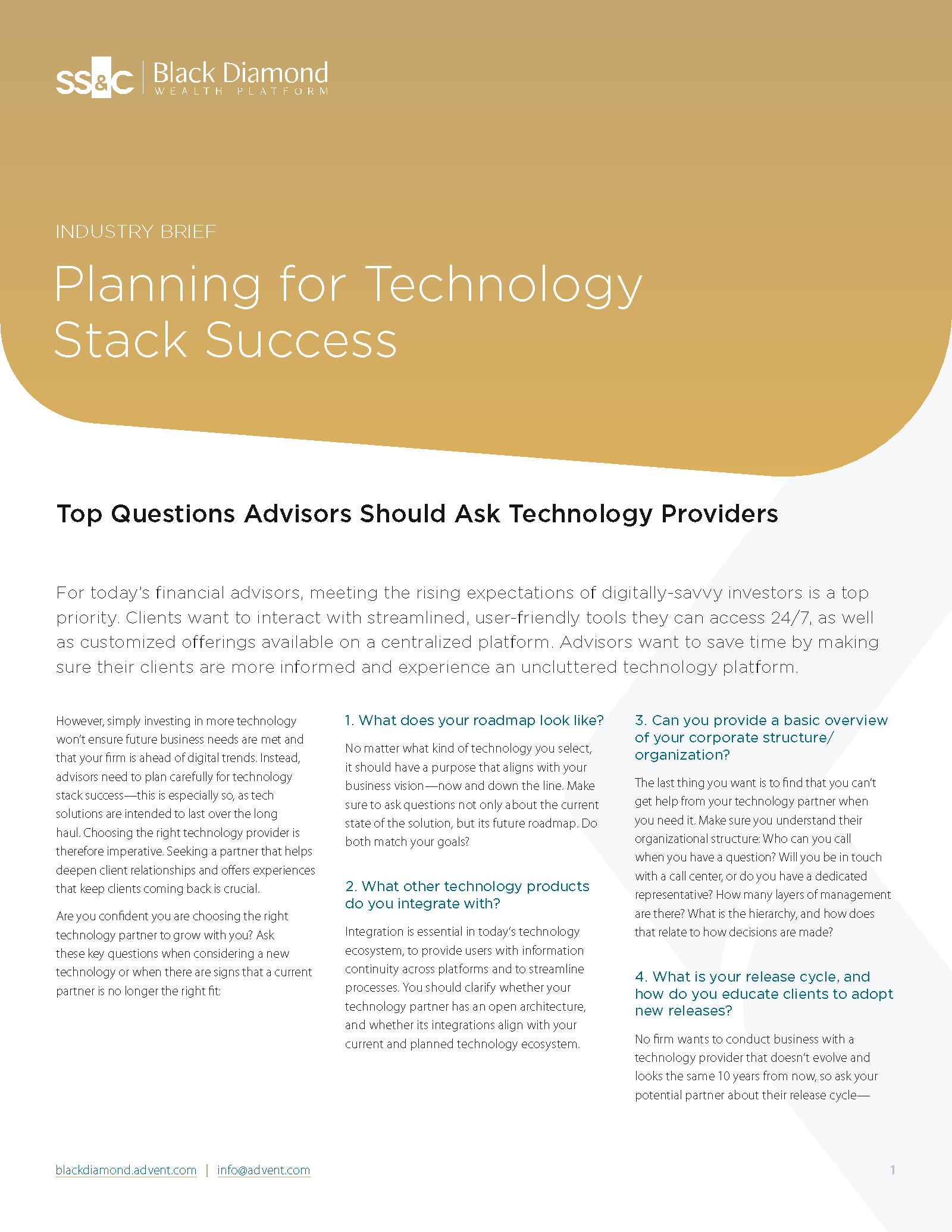 poster image for Planning for technology stack success