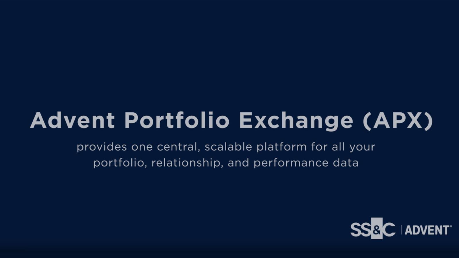 poster image for Advent Portfolio Exchange