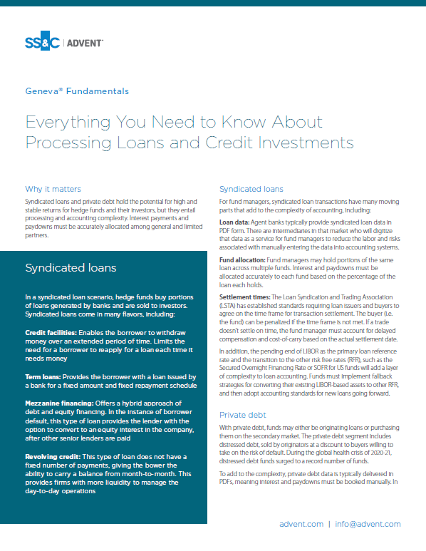poster image for <p>Everything You Need to Know About Processing Loans and Credit Investments</p>
