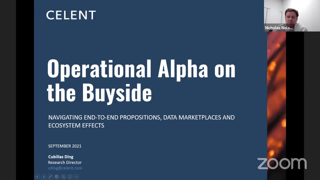 poster image for Operational Alpha: Navigating the New Realities of End-to-End Propositions, Data Marketplaces and Ecosystem Effects