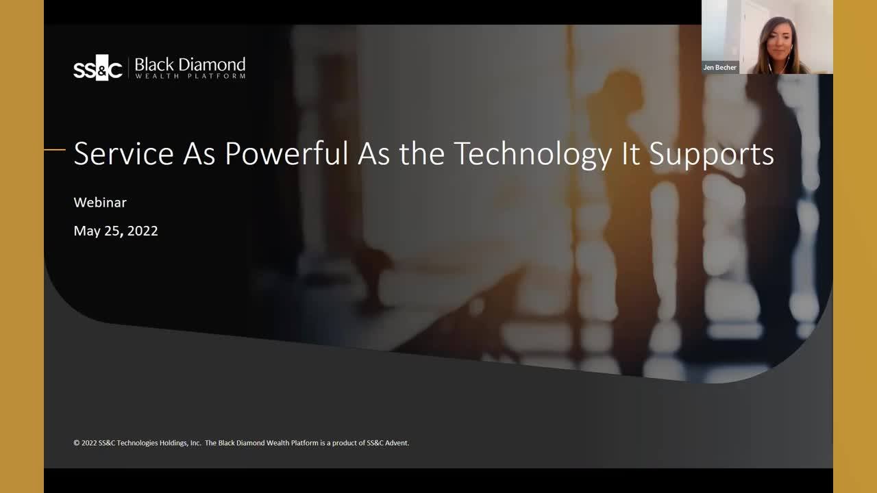 poster image for Black Diamond Wealth Platform: Service as Powerful as the Technology it Supports