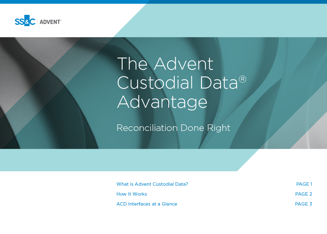 poster image for The Advent Custodial Data Advantage