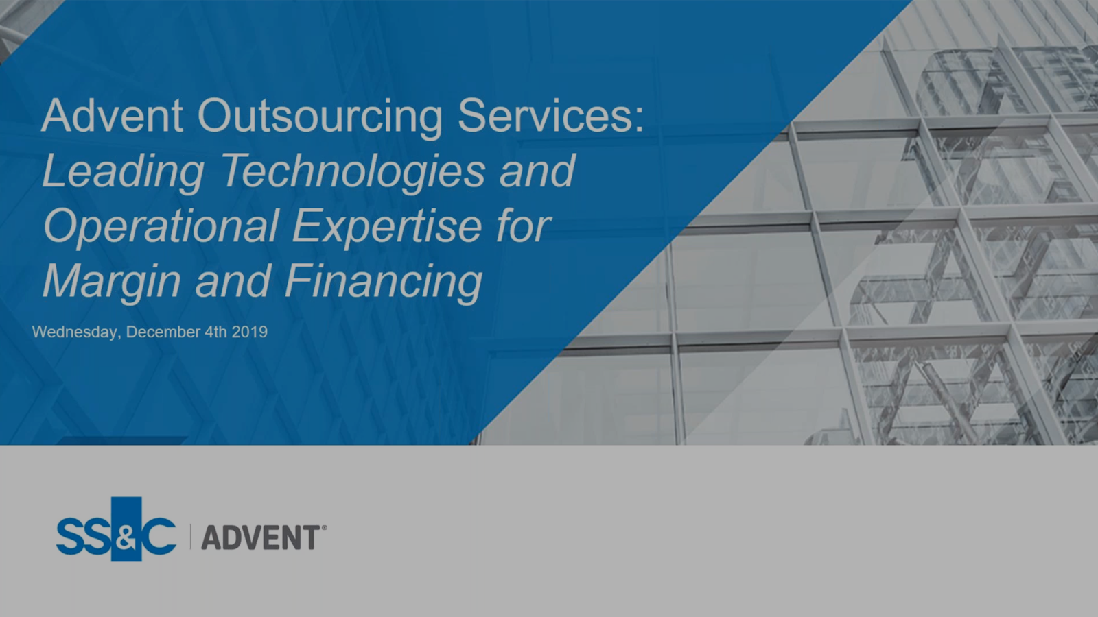 poster image for Unique outsourcing for your middle office treasury