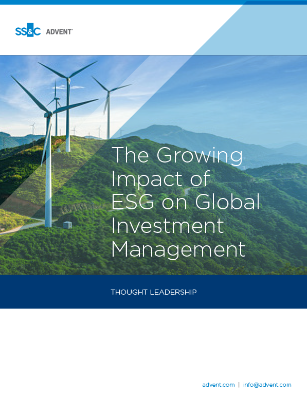 poster image for The Growing Impact of ESG on Global Investment Management
