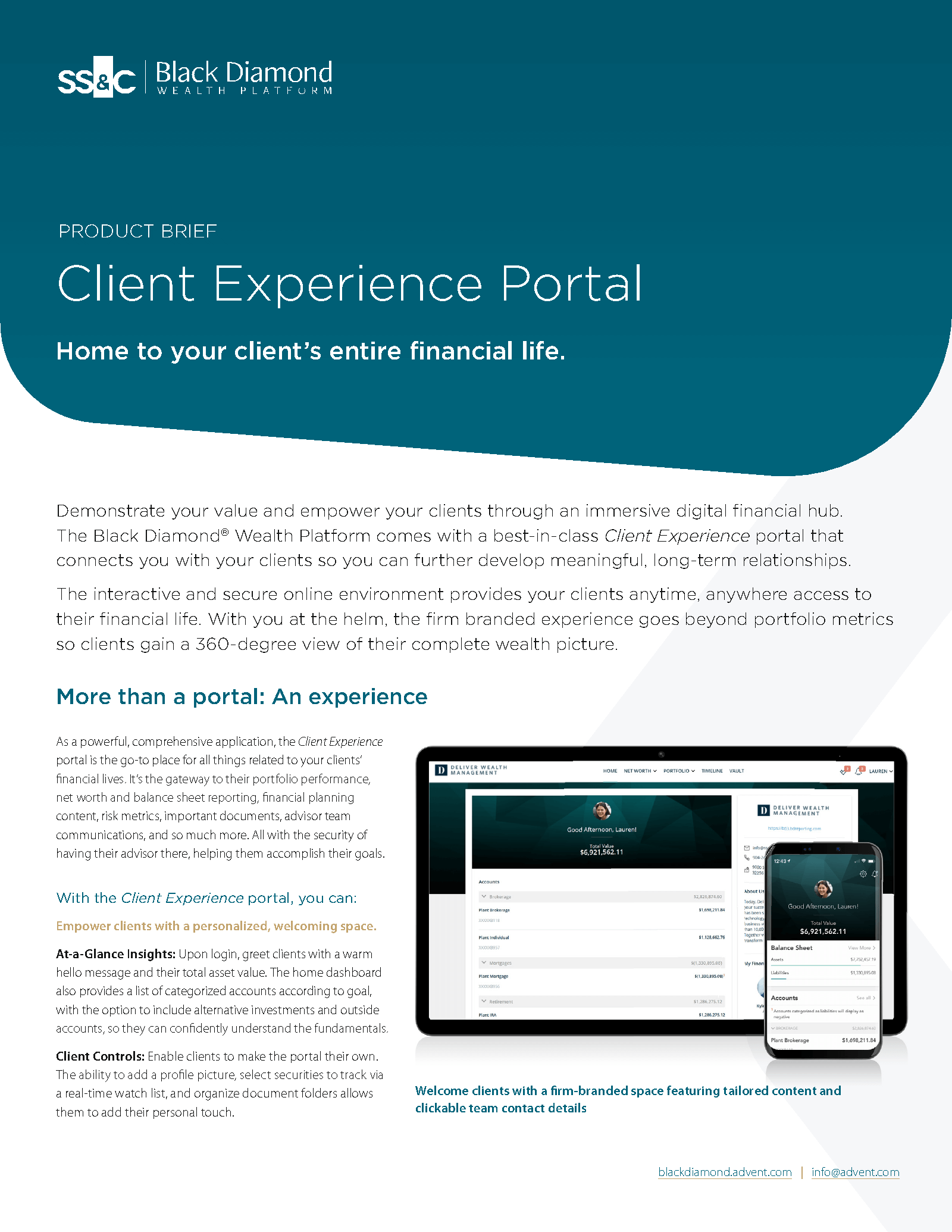 Client Experience Product Brief