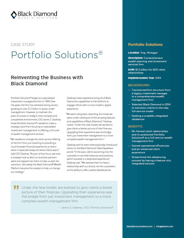 Case Study: Portfolio Solutions